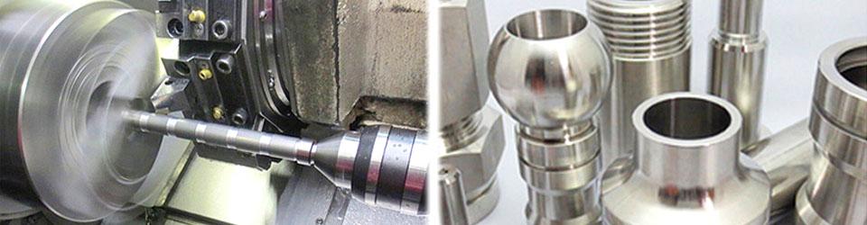 純ニッケル、インコネル、ハステロイなど高ニッケル合金の難削材、ステンレスの加工を得意とし多数の加工実績があります。熟練した職人の技術により高精度な加工にも対応、またネジの切削加工も得意としております。
